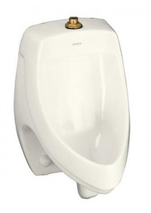Kohler K-5016-ET Dexter Elongated Urinal With Top Spud