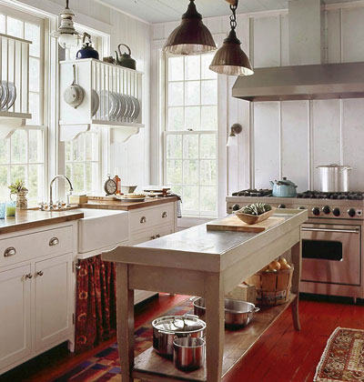 Simple Natural Wood, For Your Kitchen Counters, Kitchen Island, Or Even Your Floor Or Ceilings Can Emphasize The Cottage Feel Of Your Kitchen
