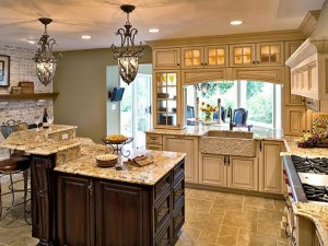 When Your Kitchen Has This Much Lighting, You Need A Good Way To Regulate It
