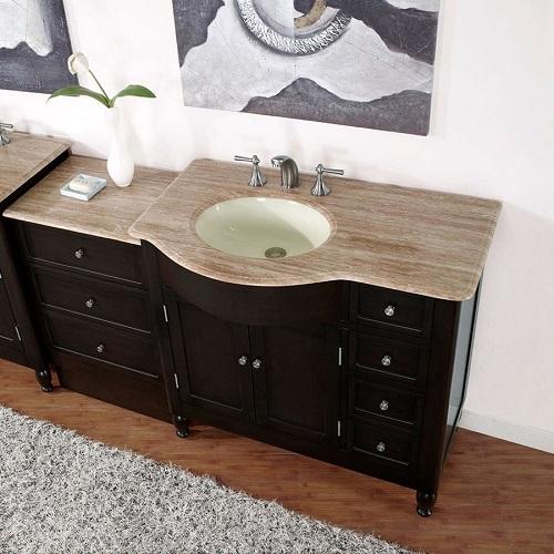 """58"""" Bathroom Vanity Set HYP-0902-58-M-L from Silkroad Exclusive"""