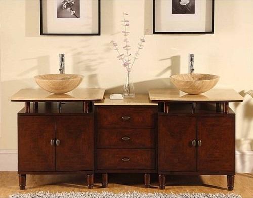 """73"""" All-Module Bathroom Vanity HYP-0808N-73 from Silkroad Exclusive"""