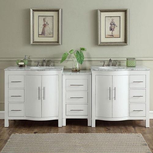 "89"" Double Sink Bathroom Vanity V0290WW89D from Silkroad Exclusive"