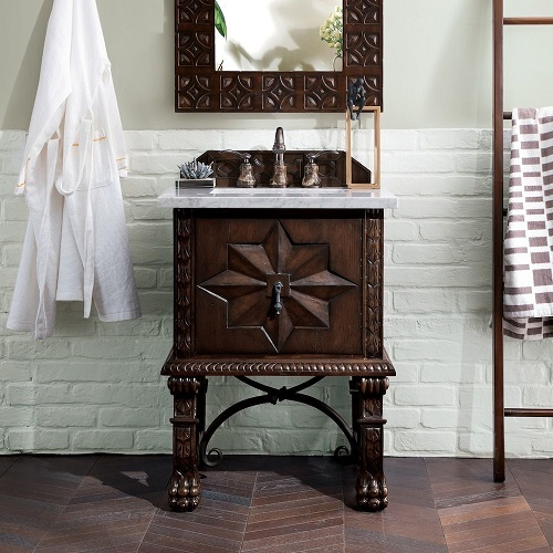 "Balmoral 26"" Single Bathroom Vanity Cabinet in Antique Walnut 150-V26-ANW from James Martin Furniture"