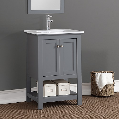 "Manchester 24"" Traditional Bathroom Vanity in G ray FCB2304GR-I from Fresca"