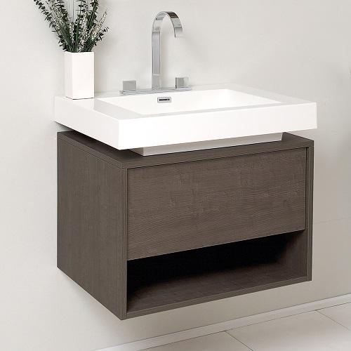 Potenza Gray Oak Modern bathroom Vanity Cabinet FCB8070GO-I from Fesca