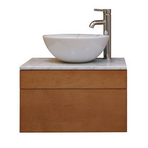 Sagehill Designs Wall Mount Maple Wood Vanity Cabinet with Drawer from the Lincoln Street Collection