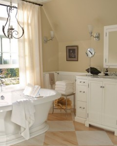 A Slightly Glossy Finish On A White Vanity Will Save It From Aging Prematurely