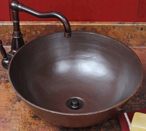 Aurora Copper Vessel Sink SC-ARD from Sierra Copper