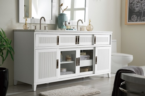 "Brisbane 72"" Double Bathroom Vanity 516-V72-BW from James Martin Furniture"