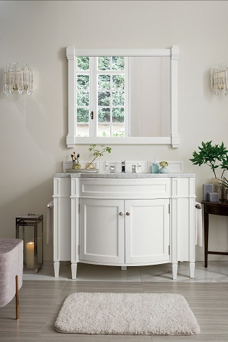"Brittany 46"" Single Bathroom Vanity in Cottage White 650-V46-CWH from James Martin Furniture"