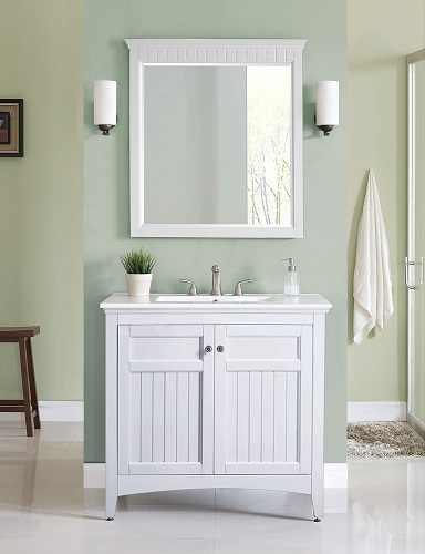 "Danube 36"" Vanity in White V-DANUBE-36WT from Ryvyr"