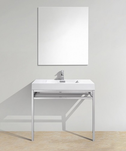 "Haus 36"" Stainless Steel Console CH36 from KubeBath"
