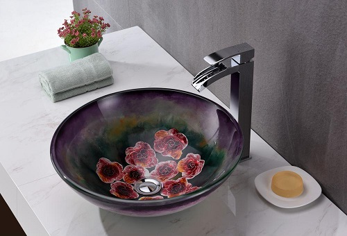 Impasto Series Hand Painted Vessel Sink LS-AZ220 from Anzzi