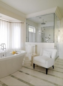 In A Rather Eclectic Bathroom An Accent Piece With A Very Distinct Style Can Set The Tone For The Whole Room