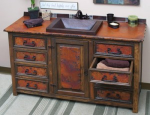 Sierra Copper 56 Inch Langley Copper Vanity