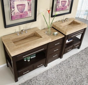 Silkroad Exclusives Modular Modern Double Vanity HYP-0218-92