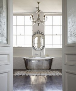 Balancing Elegance And Simplicity, Matching The Finish And Lines Of Your Bathroom Chandelier To The Other Fixtures Can Help Create A Visual Unity