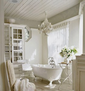 A Little Touch Of Elegance Goes A Long Way In A Bathroom With An Otherwise Simple Style