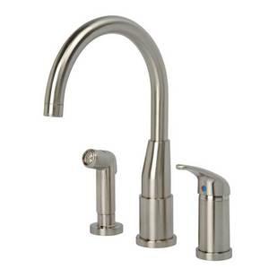 Hi-Rise Spout Kitchen Faucet W/ Spray By Artisan Mf-230-Sn
