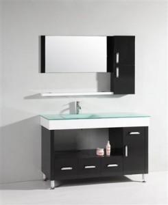 Asymmetrical Modern Black Vanity WT9116