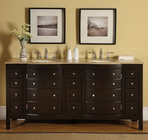 Double Vanity With Faux Drawer Doors HYP-0704-72