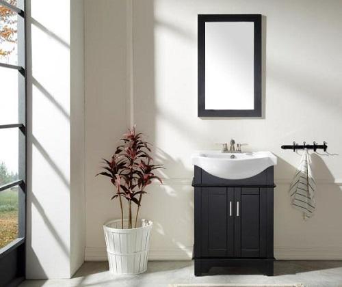 "Montbrun 24"" Bath Vanity in Rich Black V-MBG022-24 from Anzzi"