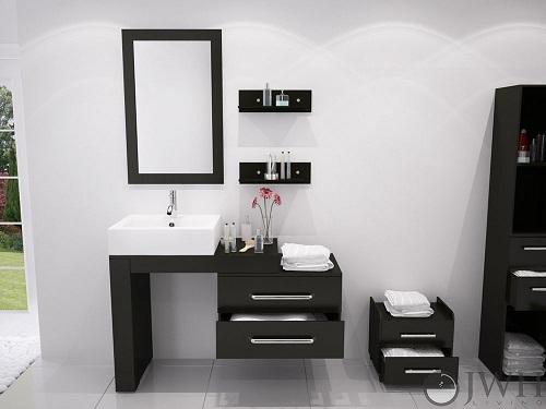 Scorpio Bathroom Vanity JWH-4115 in Espresso from JWH Living