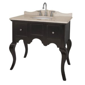 Single Basin Black Console Vanity From Belle Foret