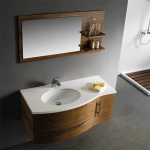 44 Inch Walnut Wall Mounted Bathroom Vanity From Vigo Industries
