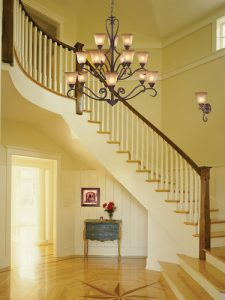 Lawrenceville 15 Light Chandelier In Mocha And Antique Amber Glass
