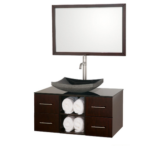 Abba 36 Inch Wall Mounted Vanity From The Wyndham Collection