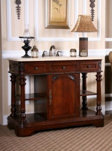 Antique Dark Cherry Bathroom Vanity