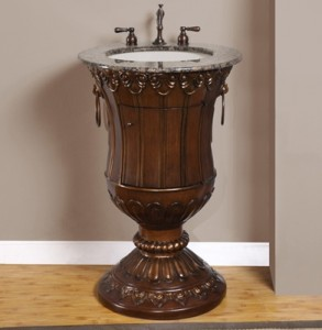Antique Goblet Style Pedestal Vanity From Silkroad Exclusive