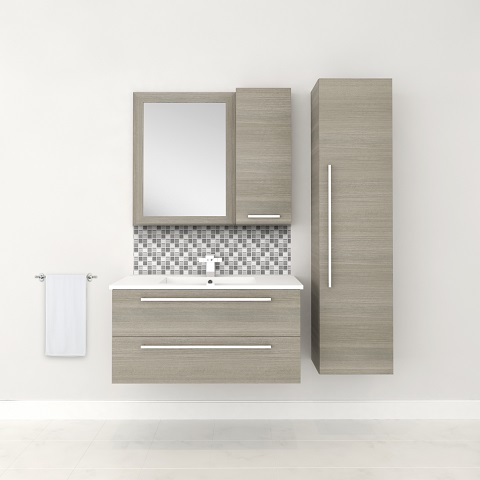 "Aria 36"" Wall Hung Bathroom Vanity FV ARIA36 from Cutler Kitchen And Bath"