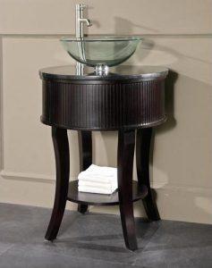 Avanity Hemet 25 Inch Dark Walnut Vanity With Black Granite Top