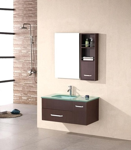 "Christine 35"" Single Sink Wall Mounted Vanity Set DEC1107 from Design Element"