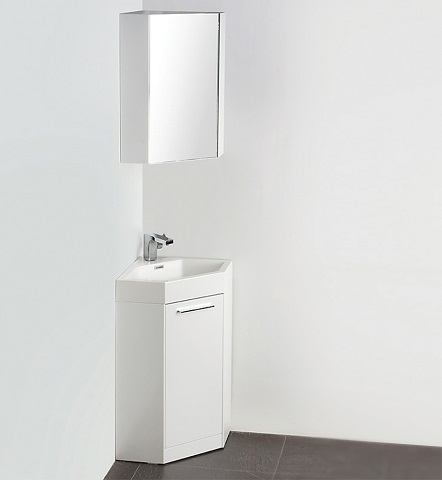 "Coda 18"" White Modern Corner Bathroom Vanity FVN5084WH from Fresca"