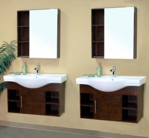 Double Wall Mounted Spa Style Bathroom Vanities