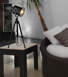 Ethan Adjustable Tripod Table Lamp in Restoration Black