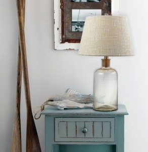 HGTV Bottle Style Lamp With Cork Neck