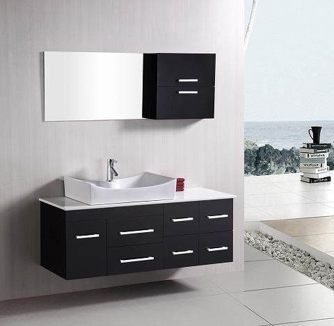 "Portland 53"" Single Sink Wall Mount Vanity Set DEC1101 from Design Element"