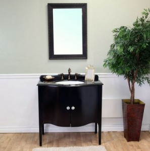 Simple Black Vanity From Bellaterra