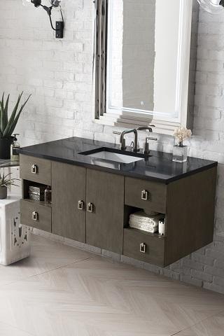 """Sonoma 48"""" Single Bathroom Vanity in Silver Oak 860-V48-SOK-3IBK from James Martin Furniture"""