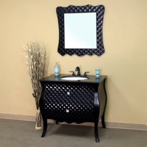 Studded Black Vanity From Bellaterra