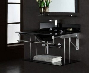 V-Metal Wall Mount For A Vanity Top From Xylem