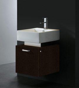 18 Inch Wenge Wall Mounted Bathroom Vanity