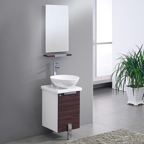 "Adour 16"" Dark Walnut Modern Bathroom Vanity FVN8110DK from Fresca"