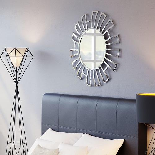 Calmar Round Mirror Aluminum A12219 from Zuo Modern