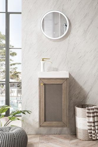 "Chianti 16"" Single Vanity Cabinet in Whitewashed Walnut E303-V16-WW-WG from James Martin Furniture"