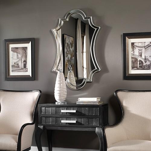 Elara Antiqued Silver Wall Mirror 08134 from Uttermost